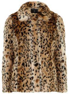 Faux Fur Leopard Coat / Only $89