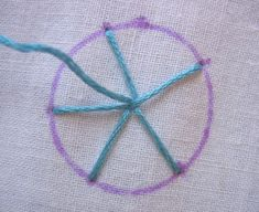 A blog featuring hand embroidery tutorials with each stitch explained in step-by-step instructions and photographs.