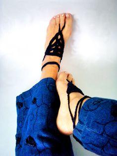 Anklets Jewelry Foot Hippy Chic Midnight Blue Bracelet by nerina52, $18.00