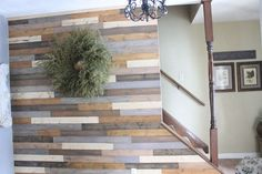 Wood-nt You Like a Wood Wall? Love this look. Use of paint instead of stain; great idea.