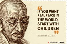 Top 20 Gandhi Jayanti Images Quotes And Messages For 2nd October Gandhi Jayanti Images, Happy Gandhi Jayanti, Famous Education Quotes, Famous Book Quotes, Citation Gandhi, Mahatma Gandhi Quotes, Peace Quotes, Quotes Quotes, Qoutes