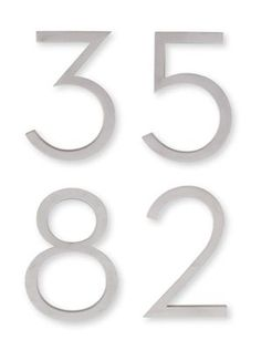 Neutra+House+Numbers+in+Aluminum