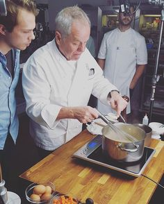 Fun having @chefwolfgangpuck in the Tasty kitchen! Stay tuned for his Chicken Pot Pie recipe. Surely not one to miss! #wpcatering #
