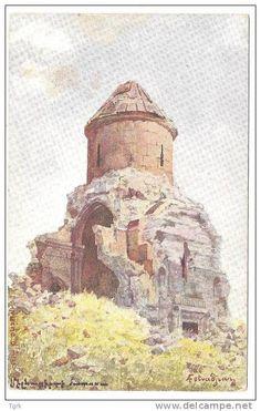 ARMENIE KARS ANI illustration arménienne par FETVADJIAN église