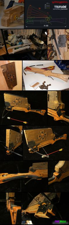 A repeating crossbow for LARPing. I <3 the stock design. - Witchhunter Repeating Crossbow by AetherAnvil