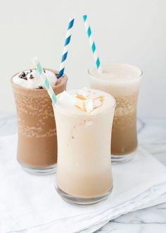 Turn your iced coffee into a shake with almond milk. Get the tutorial from Baked Bree. - aaaah this is LOOOVE