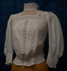 Victorian Blouse, Blouse Vintage, Vintage Dresses, Vintage Outfits, 1900s Fashion, Edwardian Fashion, Vintage Fashion, Edwardian Clothing, Edwardian Dress