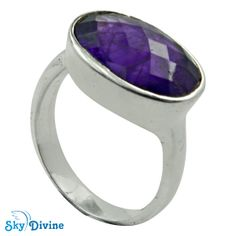 Be an attention snatcher with this charming purple amethyst in handmade sterling silver ring. Any basic tank, tee and jeans will turn into a fanciful clothing with this pretty accessory. Sky Divine | 925 Sterling Silver amethyst Ring Size 8 US, $71.56 Click on the Pic to buy and get it delivered before christmas