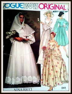 Vogue Paris Original  1363  Misses' Bridal by ThePatternShopp, $35.00