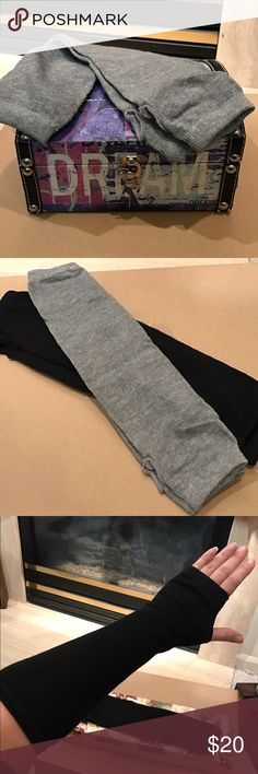 """🎄🎅STOCKING STUFFERS Nwt arm warmer Nwt light grey arm warmer. Acrylic/polyester blend. 14"""" length. Hand wash only (3 colors separate listings) 🎄sale ends December 25 Accessories Gloves & Mittens"""
