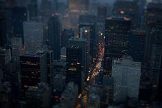 Una ciudad vista desde lo alto