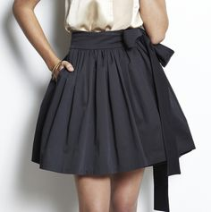 A style that is cute, girly and work-appropriate (depending on the dress code) is the 50s inspired A-line full skirt.