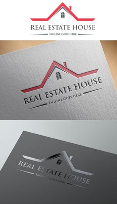Real Estate House Logo by The Candy Shop on Creative Market