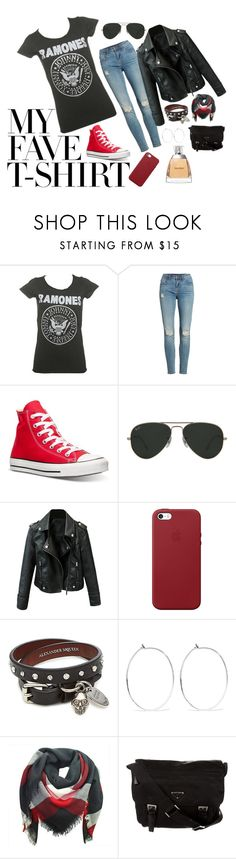 """Judy was a punk"" by brittndesj07 on Polyvore featuring Vigoss, Converse, Ray-Ban, Apple, Alexander McQueen, Catbird, Prada, Vera Wang and MyFaveTshirt"