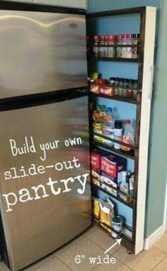 Built in slide out pantry!