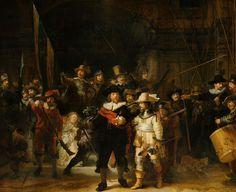 La ronda di notte di Rembrandt Uno di capolavori di Rembrandt, La ronda di notte, ospitato al Rijksmuseum di Amsterdam, ora si può ammirare ad altiss...