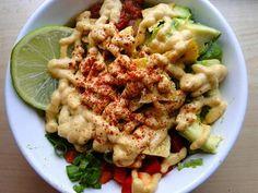24 Delicious Quinoa Bowl Recipes: Nacho Supreme Quinoa Bowl + TruRoots with red pepper, black beans, avocado