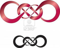 Abstract design of double infinity, perfect as a tattoo Stock Photo - 17433108