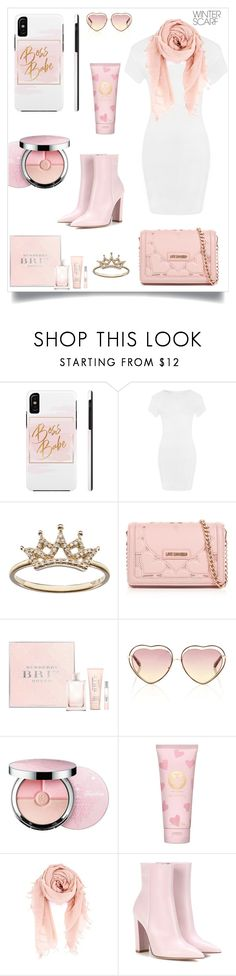 """""""boss babe"""" by im-karla-with-a-k ❤ liked on Polyvore featuring WearAll, Love Moschino, Burberry, Chloé, Guerlain, Tory Burch, Gianvito Rossi and winterscarf"""