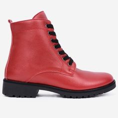 Ghete rosii din piele naturala Bradley Dr. Martens, Combat Boots, Shoes, Fashion, Moda, Zapatos, Shoes Outlet, Fashion Styles, Shoe