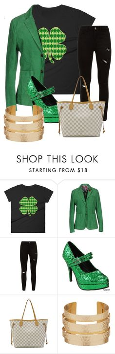 """""""st.patrick's day"""" by velvetgirl10 ❤ liked on Polyvore featuring AT.P.CO, Ellie and Louis Vuitton"""