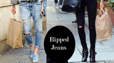#jeans rotos o #ripped jeans. http://www.studyofstyle.com//articulos/ripped-jeans