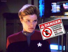 Great Love Stories, Love Story, Captain Janeway, Kate Mulgrew, Star Trek Characters, Star Trek Voyager, Trekking, Good Times, All Star