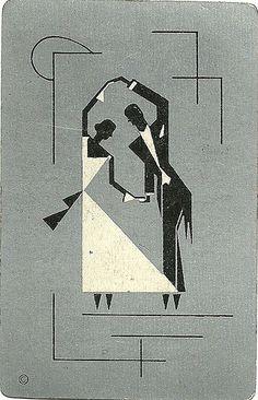 dance deco by Millie Motts http://flic.kr/p/7uhrU3. flickr image Millie Motts vintage ephemera playingcards