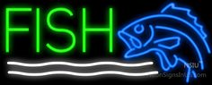 Fish Real Neon Glass Tube Neon Signs,Affordable and durable,Made in USA,if you want to get it ,please click the visit button or go to my website,you can get everything neon from us. based in CA USA, free shipping and 1 year warranty , 24/7 service