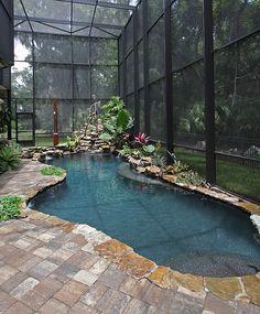 Creative indoor pool mimics an exotic tropical pond - Decoist