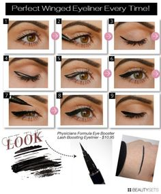 how to get perfect winged eyeliner with gel