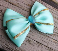 Jasmine hair bow Disney inspired bow Aladdin by JaybeePepper