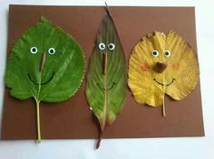 13 Outdoor Art Projects For Kids To Make - Leaf People Kids Crafts, Leaf Crafts, Family Crafts, Cute Crafts, Projects For Kids, Crafts To Make, Art Projects, Outdoor Projects, Autumn Crafts