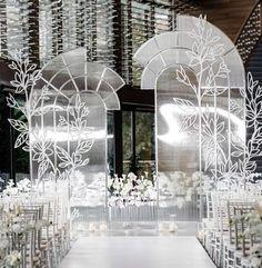 Wedding Backdrop Design, Wedding Stage Design, Wedding Designs, Flower Installation, Magical Wedding, Ceremony Decorations, Wedding Trends, Event Decor, Event Design