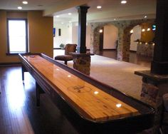 Basement Design, Pictures, Remodel, Decor and Ideas - page 67.  I want a SHUFFLEBOARD TABLE!!!!!!