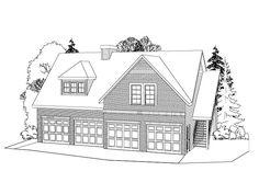 Garage Apartment Plan, 053G-0001