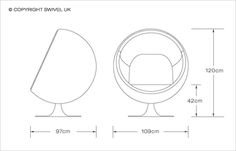 Buy Eero Aarnio Style Cup Chair with FREE UK delivery. Swivel UK supply the highest quality reproduction furniture to buy online. Loft Style Apartments, Bubble Chair, Floor Plan Drawing, Chair Drawing, Ball Chair, Futuristic Furniture, Furniture Design, Bubbles, Flooring