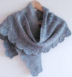 Free Knitting Pattern for Saroyan Shawl