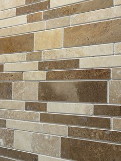 Travertine subway mix backsplash tile with three different color option. Multi color subway backsplash tile. Dark, Medium and Light Brown Mixed.