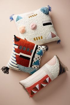 Embellished Shape Study Pillow will enliven your living room, bedroom and kid room with geometric fun and color.