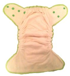 Inside of a Wonderful Bambino Bamboo Fitted Diaper. Comfortable, absorbent diaper with a booster inside.