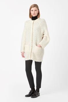 Wool cocoon cardigan