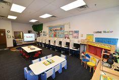 Our preschool's media center Media Center, Conference Room, Preschool, Table, Furniture, Home Decor, Decoration Home, Room Decor, Kid Garden