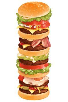 Cheeseburger ~ quadruple stack