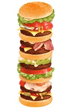 Cheeseburger ~ quadruple stack
