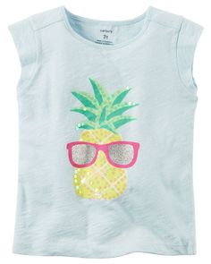 Toddler Girl Pineapple Sequin Tee from Carters.com. Shop clothing & accessories from a trusted name in kids, toddlers, and baby clothes.