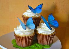 edible butterflies & decorations for cakes and cupcakes by SugarRobot on etsy