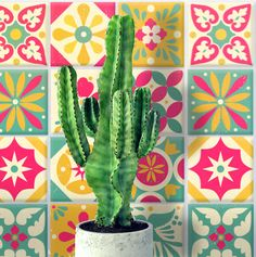 Printable talavera tile templates and ideas: 5 bright and bold eye catching designs, perfect for completing your party decorations. Download the templates.