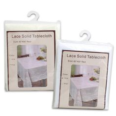"Wholesale Lace Solid Tablecloth - Assorted, 90"" (Item 21273)"