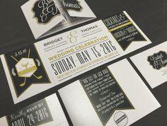 Golf Course Wedding Invitation Custom Fold by TheDesignBrewery